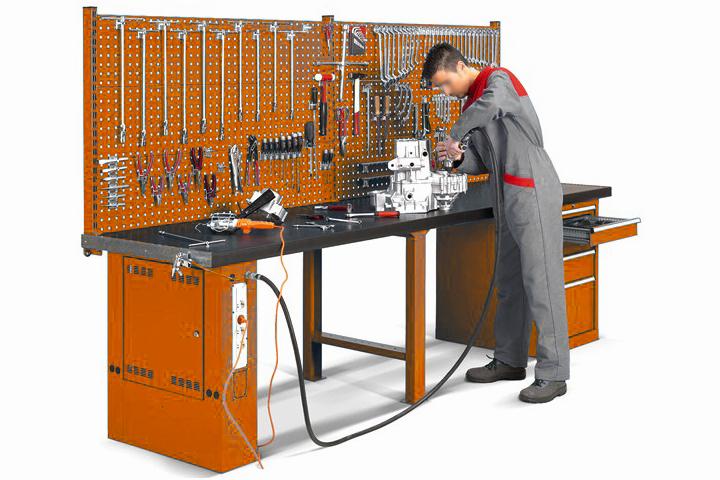 banco da lavoro elettrificato