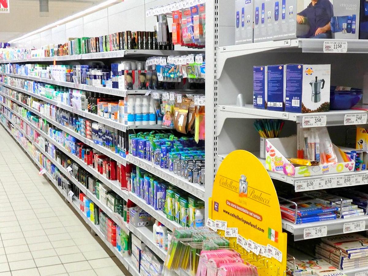 gondola espositiva supermercato