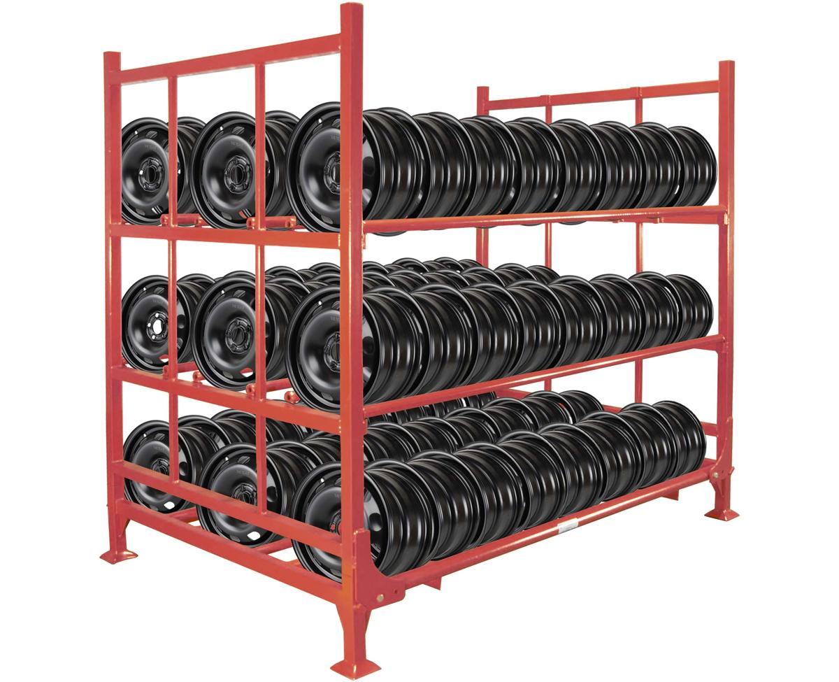 scaffalature porta cerchi pneumatici
