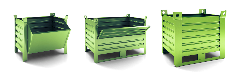 contenitori metallici in lamiera